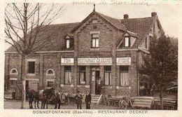 CPA - Environs De SARRE-UNION (67) BONNEFONTAINE - Aspect De La Ferme-Auberge Decker En 1934 - Autres Communes