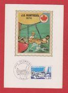 Carte Premier Jour / Jeux Olympiques Montréal  / Paris / 17 Juillet 1976 - Cartes-Maximum