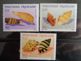 POLYNESIE 1989 Y&T N° 343 à 345 ** -  FAUNE MARINE, MICROCOQUILLAGES - Polynésie Française