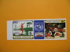 Timbre Non Dentelé  N° PA 85A  Exposition Philatélique Internationale à Knokke-le-Zoute   1970 - Centrafricaine (République)