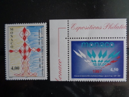 MONACO 1998 Y&T N° 2140 & 2141 ** - CONCOURS DE DESSINS DES ELEVES DES ECOLES DE MONACO - Neufs