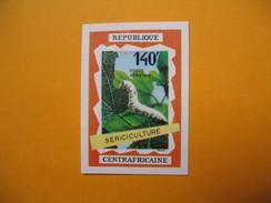 Timbre Non Dentelé  N° PA 86  Sériciculture   1970 - Centrafricaine (République)