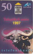 "ESTONIA - Buffalo(reverse Overprinted C ""Internet On Lahe""), Tirage 25000, Used - Schede Telefoniche"