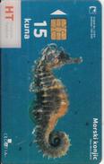CROATIA  - Sea Horse, HT Transparent Telecard 15kn, Exp.date 12/04, Used - Croazia