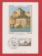 Carte Premier Jour / 50 ème Congrès FSPF / Annecy / 28 Mai 1977 - Cartes-Maximum