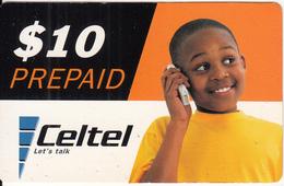 MALAWI - Boy On Phone, Celtel Prepaid Card $10, Used - Malawi