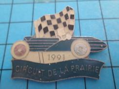 Pin713f Pin's Pins : BEAU ET RARE : AUTOMOBILES / CAEN 1991 CIRCUIT DE LA PRAIRIE DRAPEAU A DAMIERS - Rallye