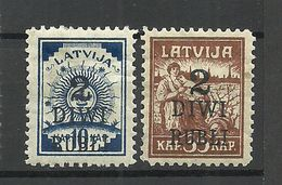LATVIA Lettland 1920 Michel 58 - 59 * - Lettland