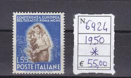 Conferenza Europea Del Tabacco A Roma - 11 Settembre 1950 - Altre Collezioni