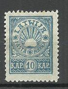 LETTLAND Latvia 1919 Michel 24 A * - Lettland