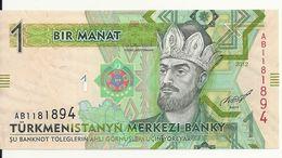 TURKMENISTAN 1 MANAT 2012 UNC P 29 - Turkmenistan