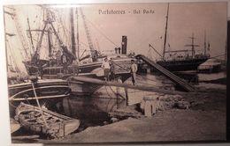 SARDEGNA - SASSARI – PORTO TORRES – NEL PORTO -  FORMATO PICCOLO - VIAGGIATA 1914 – SPLENDIDA ANIMAZIONE DI VELIERI E MA - Sassari