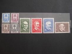 Timbre Belgique : Antituberculeux 1953 COB N° 930 à 937 ** - Belgium