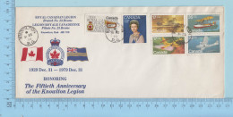 Canada FDC Royal Canadian Legion - Honoring The 50e Annivarsary Knolton Legion - Cartas