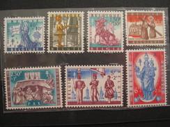 Timbre Belgique : Antituberculeux  1958 COB N°1082 à 1088 ** - Belgique