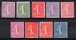 FRANCE - YT N° 197 à 205 - Neufs ** - MNH -  Cote: 161,00 € - France