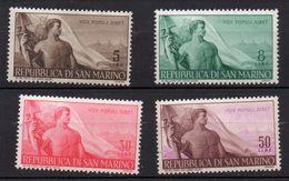 1948 San Marino - Lavoro N 336 -339 Integri  MNH** Sassone 34 Euro - San Marino