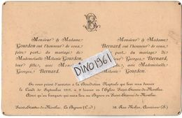 VP11.245 - SAINT ETIENNE DE MONTLUC X ASNIERES - Faire - Part De Mariage De Mr G.BERNARD & Melle M. GOURDON - Wedding