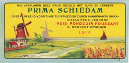 OLNE - PRIMA SCHIEDAM / JENEVER - GENIEVRE - PONDCUIR  - R.C.Lg.2428 -  LIEGE. MOULIN / MOLEN - Autres Collections