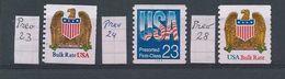 Verenigde Staten   Voorafgestempeld      Y / T    23 - 24 - 28 - Preobliterati