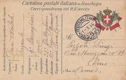 Cartolina In Franchigia Prima Guerra Mondiale ZONA DI GUERRA - Altre Collezioni