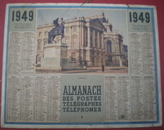 ALMANACH DES POSTES ET DES TÉLÉGRAPHES  1949 - Le Château De Versailles, Statue De Louis XIV - Calendriers