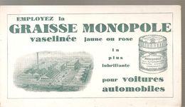 Buvard Employez La GRAISSE MONOPOLE Vaselinée Jaune Ou Rose La Plus Lubrifiante Pour Voitures Automobiles - Automotive