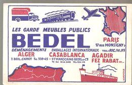 Buvard BEDEL Les Garde Meubles Publics Déménagements ALGER CASABLANCA AGADIR FEZ RABAT ... - Transports