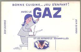 Buvard Bonne Cuisine Jeu D'enfant!  Avec Le GAZ Et Les Appareils Estampillés - Electricité & Gaz