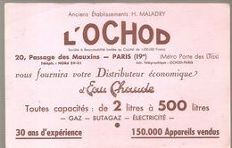 Buvard L'OCHOD Anciens Etablissements H. MALADRY 20, Passage Des Mauxins Paris 19 ème - Electricité & Gaz
