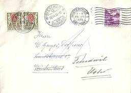 Brief  Winterthur - Freudwil  (weitergeleitet Und Taxiert)            1938 - Covers & Documents