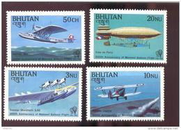 MINT NEVER HINGED SET OF STAMPS OF AVIATION  # 092-1 -S  ( BHUTAN  386-9 - Vliegtuigen