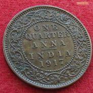 British  India 1/4 Anna 1917 (c) KM# 512  Inde Indie Britanica - Inde