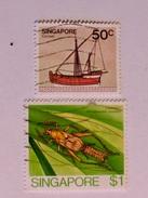 SINGAPOUR 1980-85  LOT# 4  INSECT, SHIP - Singapour (1959-...)