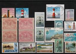 Lighthouse Stamps Small Lot - Canceled And MNH Mix--3 Scans - Phares