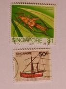 SINGAPOUR 1980-85  LOT# 5  INSECT, SHIP - Singapour (1959-...)