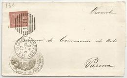 NUMERALI - REGGIO (CALABRO) + 131 SBARRE Tipo DUPLEX Su Stampe Da Reggio Calabria A Parma 17/03/1878 - Storia Postale