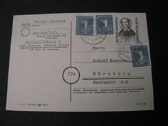 BRD Karte 1956 - Briefe U. Dokumente