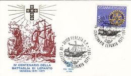 Fdc 1971 Venezia Centenario Della Battaglia Di Lepanto - Altre Collezioni