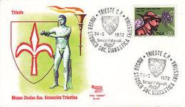 Fdc 1972  Trieste Museo Storivco Francobollo Alpini - Altre Collezioni