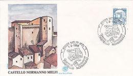 Fdc Castello Normanno Di Melfi 1988 In Bobina - Altre Collezioni