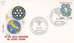 Fdc Repubblica -  1973 Fondazione Del Rotary - Altre Collezioni