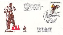 Fdc Venetia - San Marino -1984 Campionati Di Motocross - Altre Collezioni