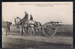 Orne, ARGENTAN, Manoeuvres De La 10e Brigade De La Cavalerie Aux Environs D'Argentan. Cheval, Dragons, Armée. - Argentan