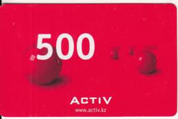 KAZAKHSTAN - Activ Prepaid Card 500 KZT, Exp.date 08/08, Used - Kazakhstan