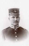 Stockholm Jeune Home En Uniforme Militaire Ancienne Photo CDV Jean Lindström 1900 - War, Military