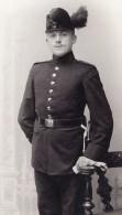 Allemagne Dresden Homme En Uniforme Militaire Ancienne Photo CDV Max Baum 1900 - Guerre, Militaire