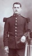 Aurillac Homme En Uniforme Militaire Ancienne Photo CDV Parry 1900 - War, Military