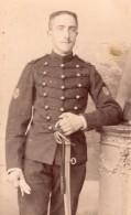Poitiers Homme En Uniforme Militaire Ancienne Photo CDV Perlat 1900 - Guerre, Militaire
