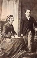 Londres Dulwich Mere Et Fils Portrait Ancienne Photo CDV Pimlico 1880 - Photos